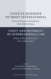 unit atilde copy et diversit atilde copy du droit international unity and diversity of unitatildecopy et diversitatildecopy du droit international unity and diversity of international law