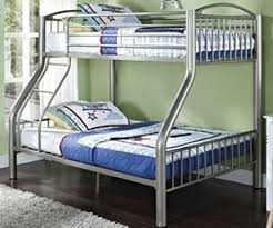 metal bunk beds for kids. Exellent For Heavy Metal Twin Over Full Bunk Bed  Silver  Donco DT45123S With Beds For Kids E