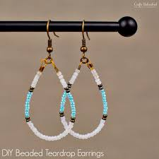 diy beaded earrings teardrop crafts unleashed 1