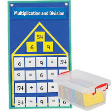 Family Chart In Spanish Multiplication And Division Fact Families Pocket Chart English Spanish