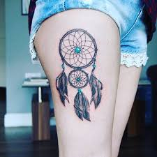 Dream Catcher Tattoo On Thigh 100 Stunningly Dreamcatcher Tattoo on Thigh 9