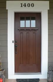 white craftsman front door. Dark Color Of Brown Door With Black Knob Grey Exterior And White Trim. Also Like Numbers Above Craftsman Front W