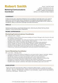 Media Planner Resumes Marketing Communications Coordinator Resume Samples Qwikresume
