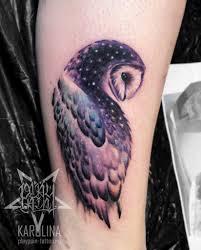 сова в цвете женская тату на ноге сделать тату у мастера каролины