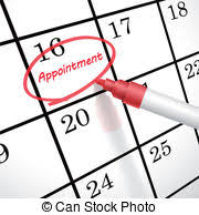 Appointment Calander Schedule Word Circled On Calendar Appointment Reminder The Word