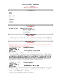 Pleasant Hospital Resume Objective In Impressive Hospital