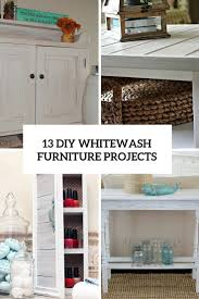whitewash furniture. 13 diy whitewash furniture projects for shabby chic dcor
