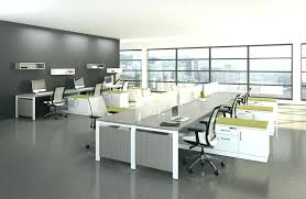 office interior ideas. Brilliant Interior Modern Home Office Color Ideas Interior Using Grey Marble Ceramic Flooring  Plus Cubical Table View In Throughout Office Interior Ideas