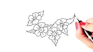 Small Picture How to draw beautiful flowers easy and simple drawing YouTube
