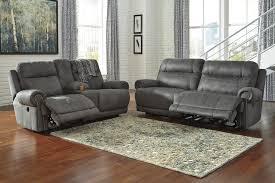 Reclining Living Room Sets Buy Ashley Furniture Austere Gray Reclining Living Room Set