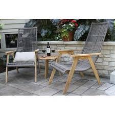 largent 3 piece teak plete patio set