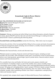 Kennebunk Light And Power Kennebunk Light Power District Job Description Pdf Free