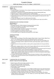Power Resume Sample Power Engineer Resume Samples Velvet Jobs 11