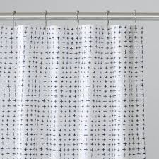 white shower curtain. Navy Imperfect Plus Shower Curtain White