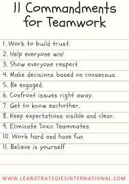 best teamwork ideas teamwork quotes 11 commandments for teamwork