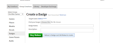 How To Create Items In Roblox We Should Be Able To Purchase A Badge For A Group Game With