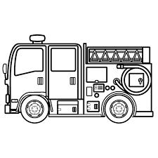 かわいい消防車の無料イラスト商用フリー オイデ43