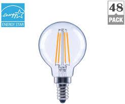 Energy Star Light Bulbs Light Bulb Led G16 5 Globe Energy Star Clear Glass Filament Soft White 48 Pack