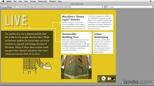 Indesign Project Example Lynda Com Indesign Cs5 Interactive