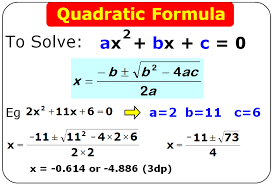 quadratics formula