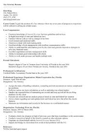 Sample Resume: Tax Lawyer Resume Sle To.
