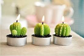 Succulent Green Cactus Candles // 10 Cool & Creative Candle Designs For  Love, Romance