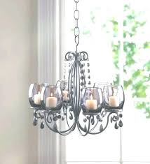 hanging votive candle holders chandelier light backyard outdoor patio deck throughout view how to make tealight best