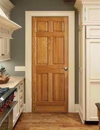 pan stained interior doors painted with wood trim