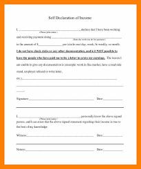 7 Self Declaration Letter Students Resume Intended For Self
