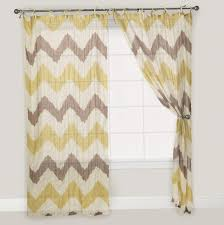 Curtains Yellow And Gray Grey White Chevron Curtain With Pleasing Black  Shower