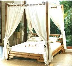Queen Size Canopy Bed Frame Wood Colourlindaxinfo Wooden Canopy Bed ...