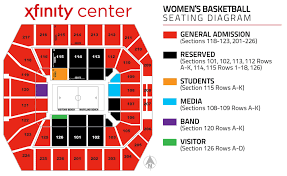 64 Particular Xfinity Center Seat Map