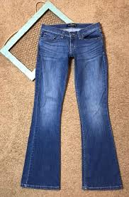Details About Womens Levis 524 Too Superlow Size 7m Blue
