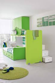 Contemporary Kids Green Bedroom Ideas With Custom Green Ceiling To ...