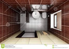 Bagno Giapponese Moderno : Vista superiore di stile giapponese della stanza da bagno