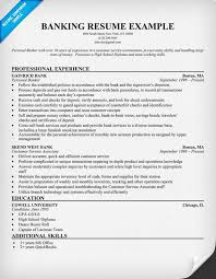 Banking Resume Sample Musiccityspiritsandcocktail Com