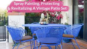 spray painting protecting revitalizing a vintage metal patio set