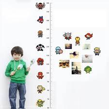 Marvel Avengers Height Chart Stickers For Kids