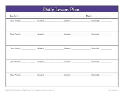 Daily Lesson Plan Template Daily Lesson Plan Template Doc Free Daily