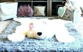 faux bear rug faux r rug for nursery polar woodland baby room decor skin co faux
