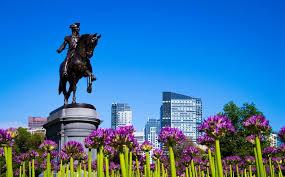 boston public gardens and the george washington statue