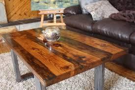 reclaimed wood coffee table reclaimed
