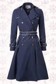 collectif clothing marlene marine sailor navy blue trenchcoat 151 31 14774 20160911 0018w