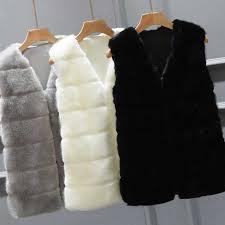 New <b>Autumn Winter</b> Waistcoat for <b>Women</b> Suede Leather Faux Fur ...