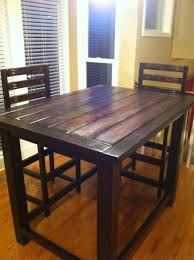 Kitchen Counter Height Tables Diy Rustic Counter Height Table Plan