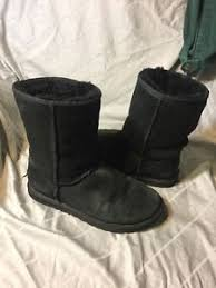 Image is loading Ugg-Uggs-Boots-Black-Classic-Short-5825-Size-