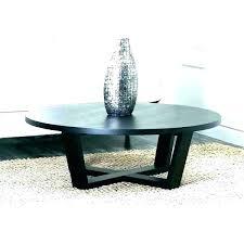 espresso finish coffee table round glass genoa with top dark