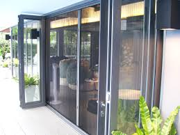 bifold doors with a monarch ex retractable insect screen installed