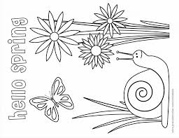 Spring Coloring Pages For Pre K With Coloring Pages Preschool House