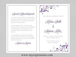 Free Microsoft Word Wedding Program Template Microsoft Office Wedding Program Template Magdalene